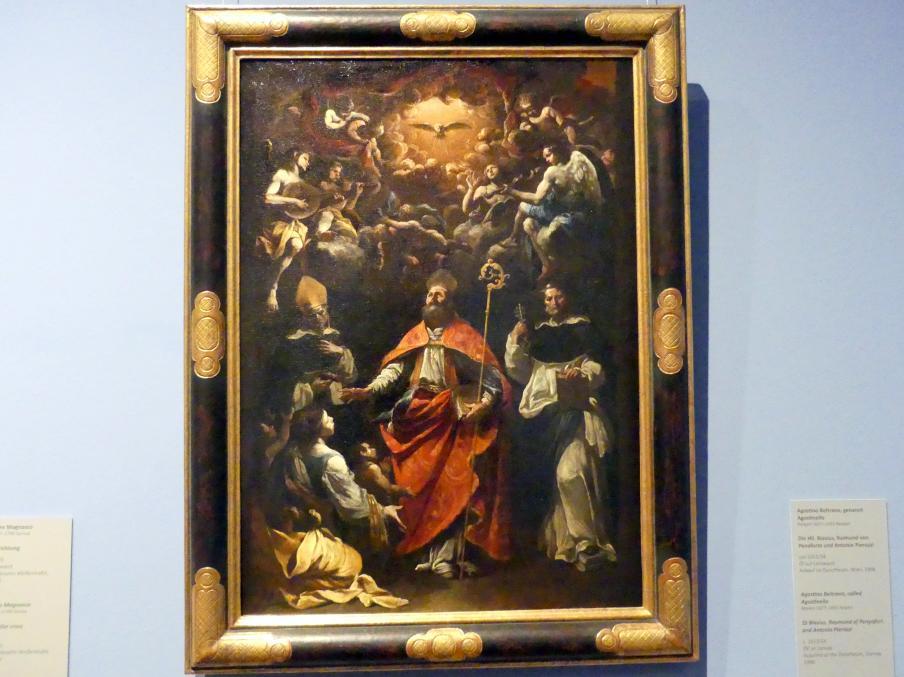 Agostino Beltrano: Die Hll. Blasius, Raimund von Penaforte und Antonio Pierozzi, um 1653 - 1654