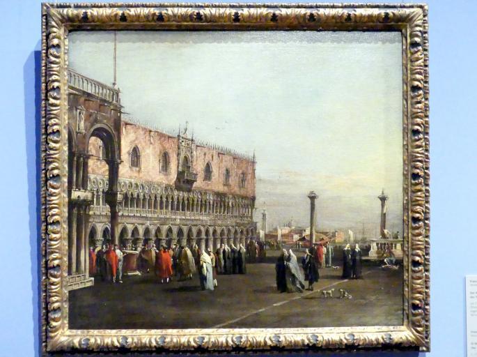 Francesco Guardi: Die Piazzetta mit dem Dogenpalast in Venedig, um 1760 - 1765