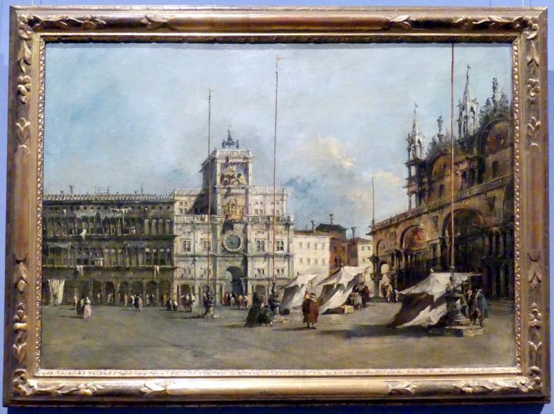 Francesco Guardi: Der Markusplatz in Venedig mit der Torre dell'Orologio, um 1770 - 1775