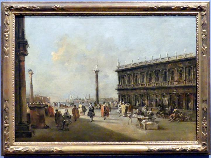 Francesco Guardi: Die Piazzetta mit der Libreria Vecchia in Venedig, um 1760 - 1765