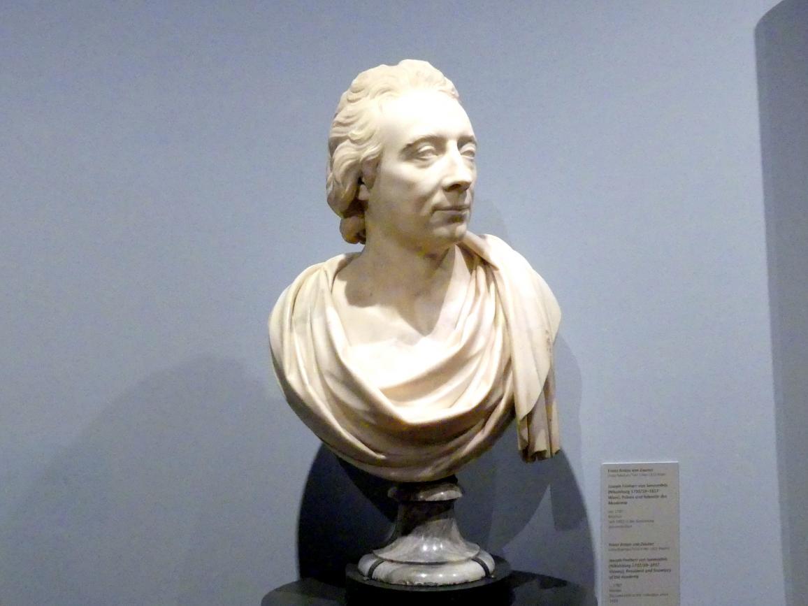 Franz Anton von Zauner: Joseph Freiherr von Sonnenfels (Nikolsburg 1732/33-1817 Wien), Präses und Sekretär der Akademie, um 1787
