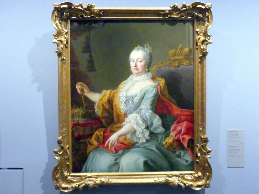 Martin van Meytens der Jüngere: Bildnis Maria Theresias (Wien 1717-1780 Wien) als Königin von Ungarn, 1759