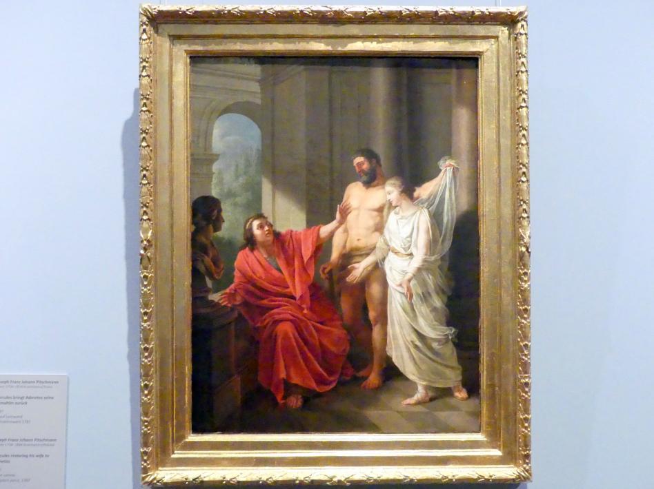 Joseph Franz Johann Pitschmann: Hercules bringt Admetos seine Gemahlin zurück, 1787