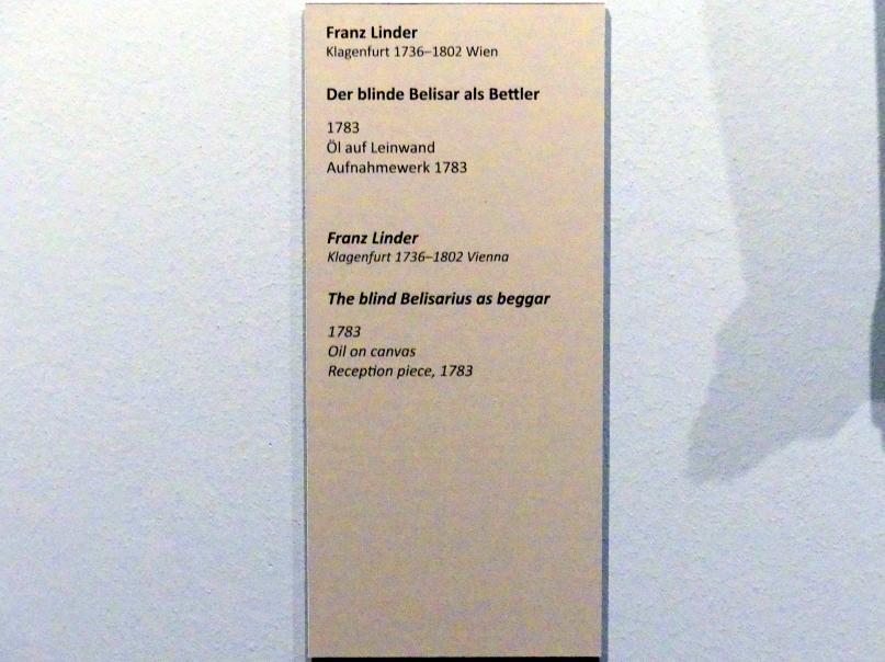 Franz Linder: Der blinde Belisar als Bettler, 1783, Bild 2/2
