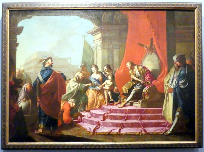 Vinzenz Fischer: Moses tritt die Krone Pharaos mit Füßen, 1760