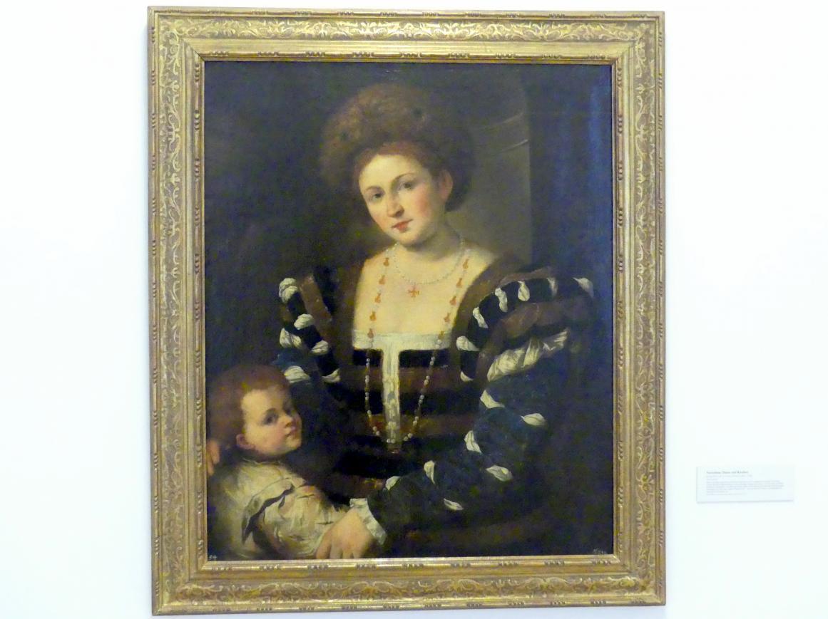Pietro della Vecchia (Pietro Muttoni): Vornehme Dame mit Knaben, Undatiert