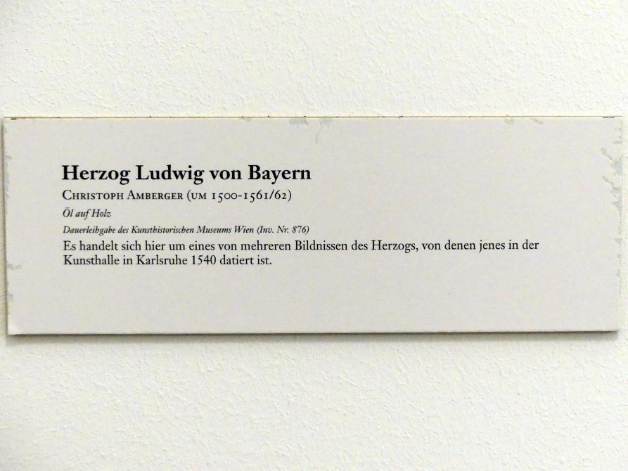 Christoph Amberger: Herzog Ludwig von Bayern, um 1540, Bild 2/2