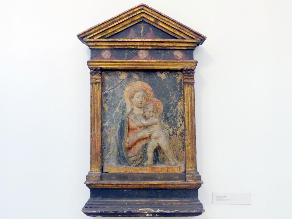 Luca della Robbia (Umkreis): Madonna mit Kind, Mitte 15. Jhd.