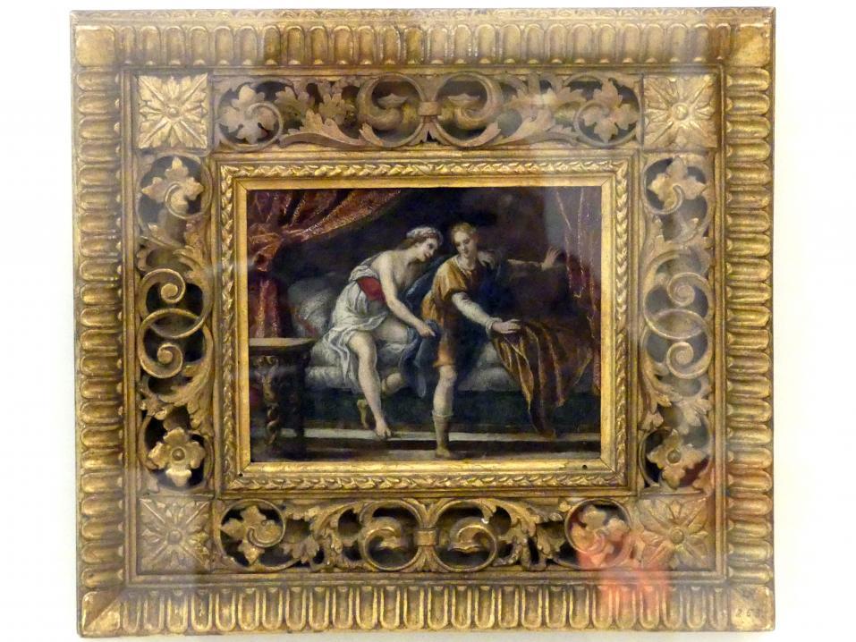Andrea Cappolo: Joseph und Potiphars Weib, Verkauf Josephs, Beginn 17. Jhd.