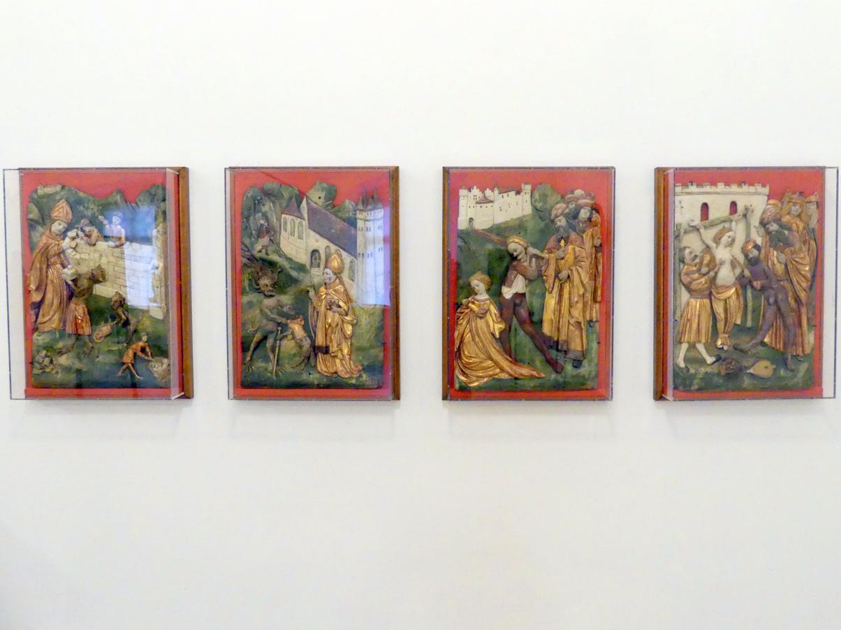 Meister der Wolfganglegende: Martyrium der hll. Agathe und Katharina, Wolfganglegende, Um 1510 - 1520