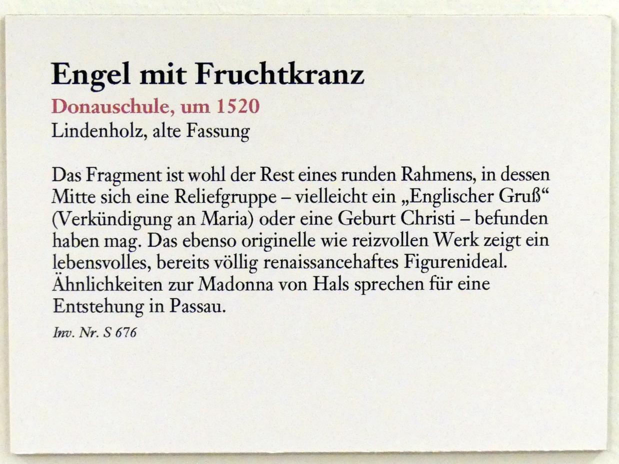 Engel mit Fruchtkranz, um 1520, Bild 2/2