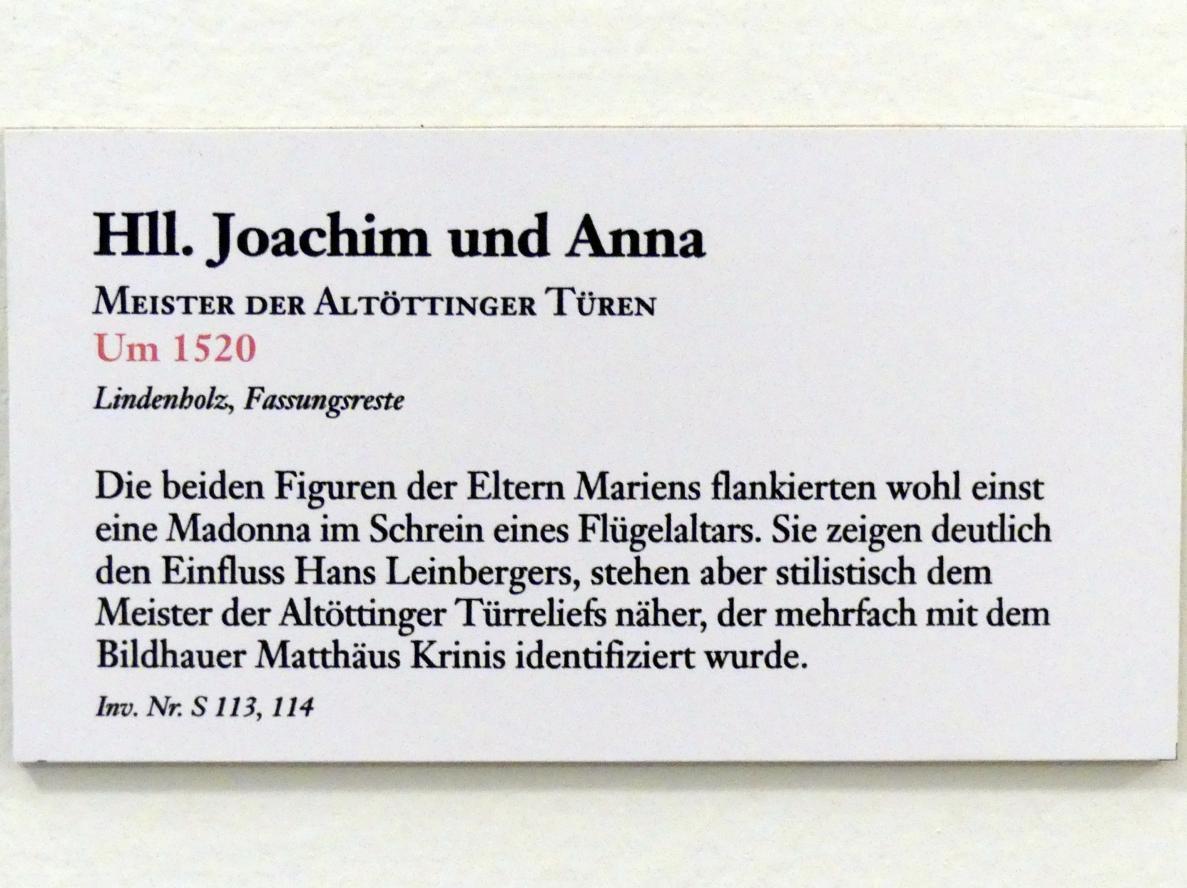 Meister der Altöttinger Türen (Matthäus Krinis?): Hll. Joachim und Anna, Um 1520
