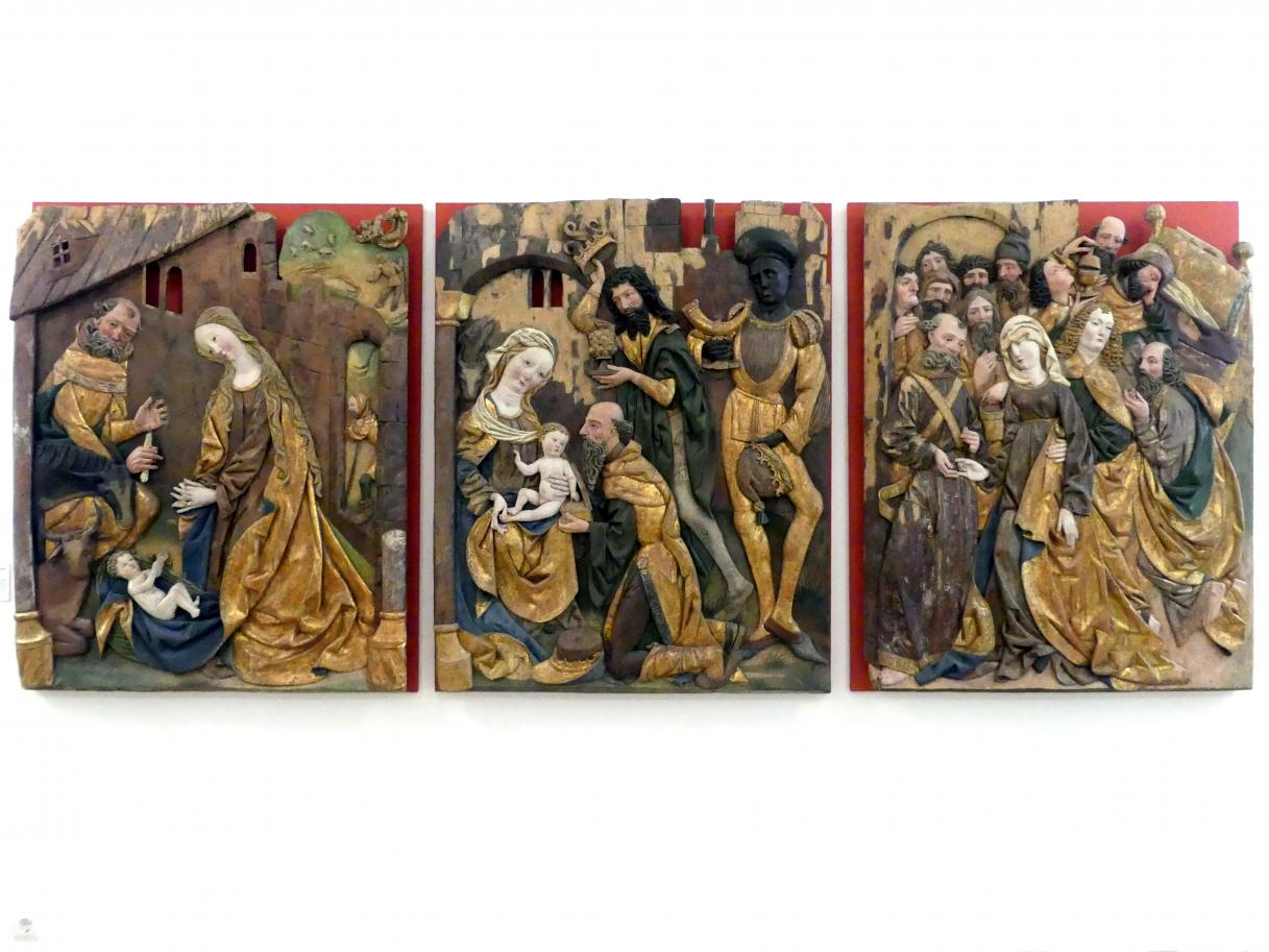 Geburt Christi, Anbetung der Könige, Tod Mariens, Um 1500