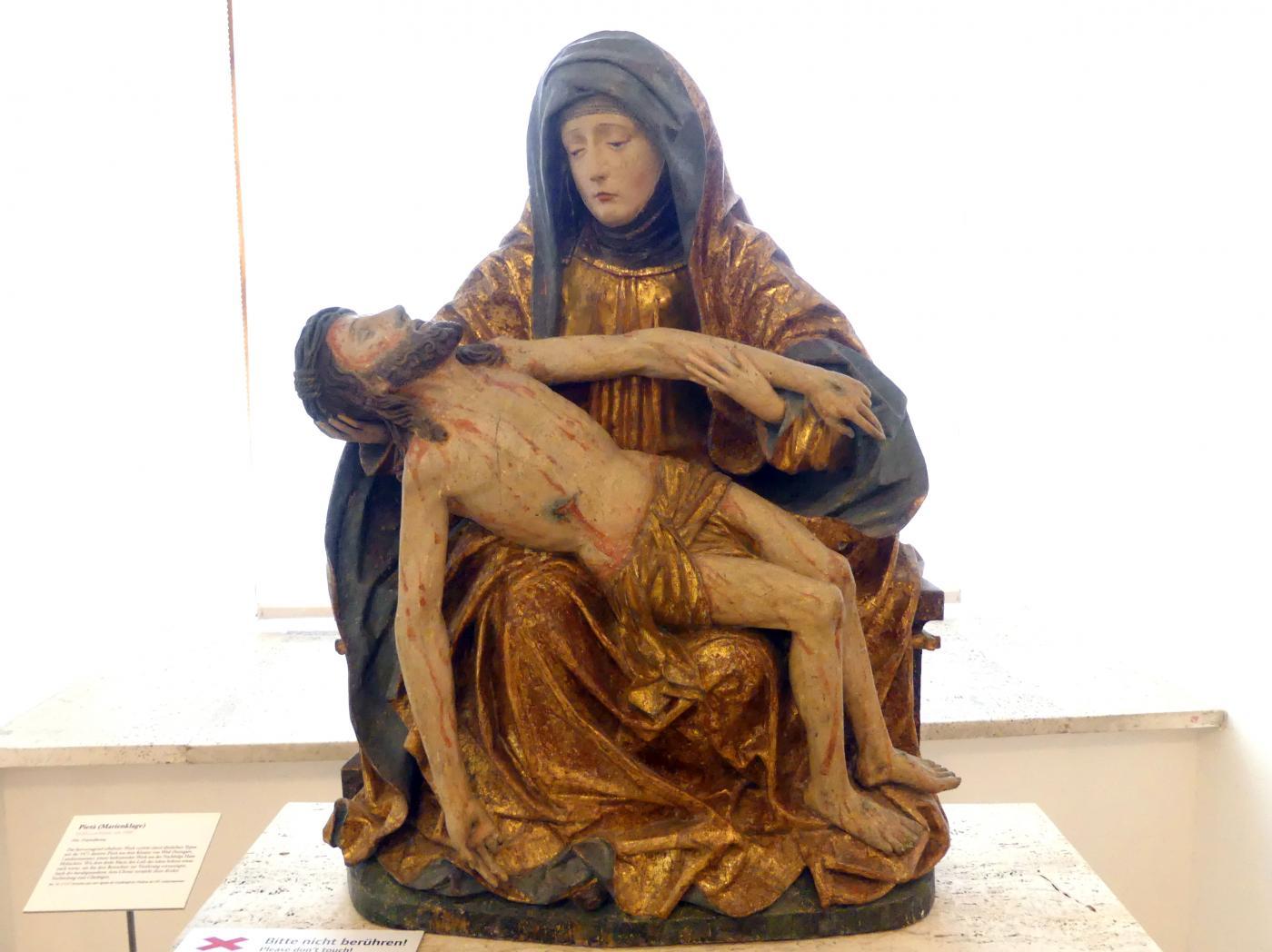 Pietà (Marienklage), um 1480