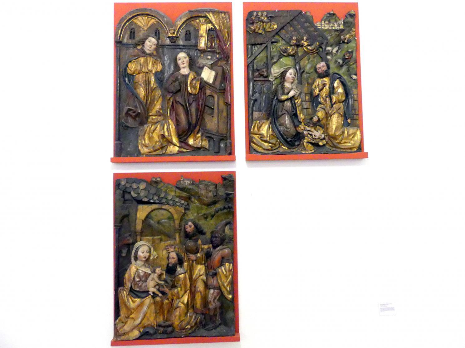 Verkündigung, Geburt Christi, Anbetung der Könige, Tod Mariens, um 1500