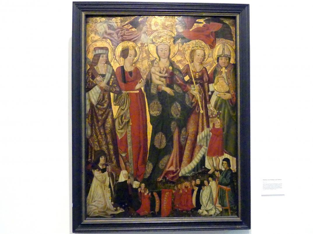 Madonna mit Heiligen und Stiftern, Um 1490