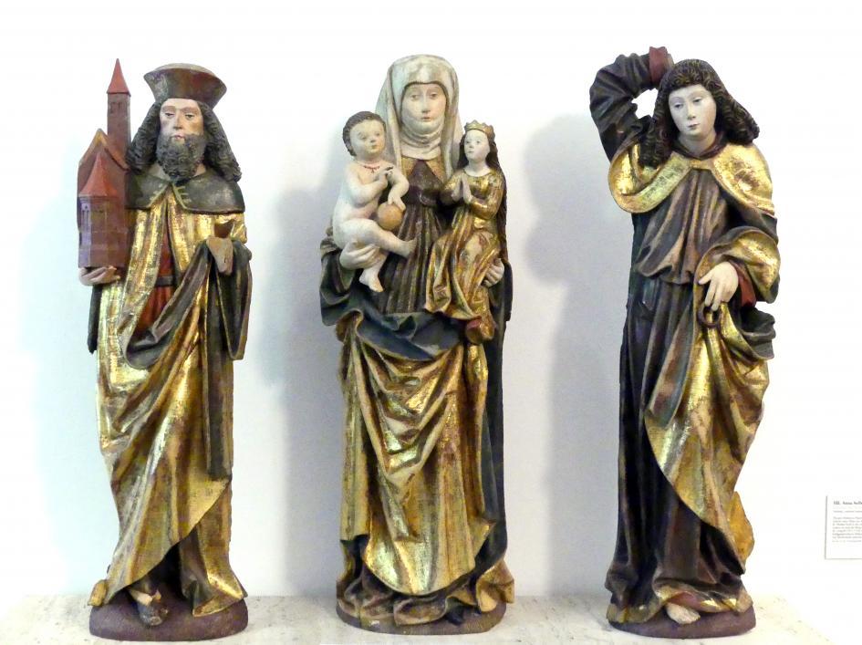 Hll. Anna Selbdritt, Leopold, Michael, Ende 15. Jhd.