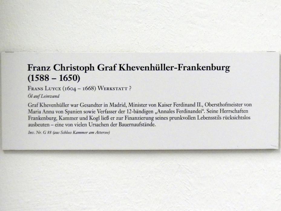 Franz Christoph Graf Khevenhüller-Frankenburg (1588-1650), Undatiert, Bild 2/2