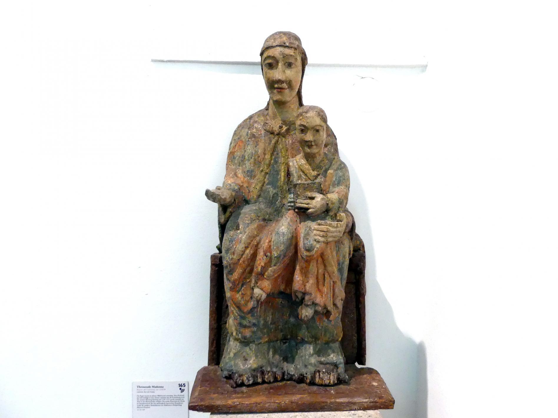 Thronende Madonna, um 1218 - 1230