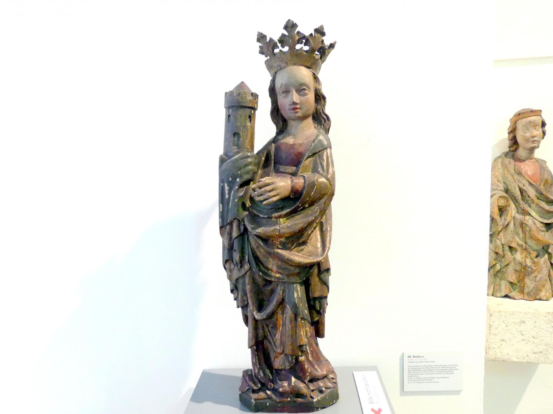 Hl. Barbara, Um 1380