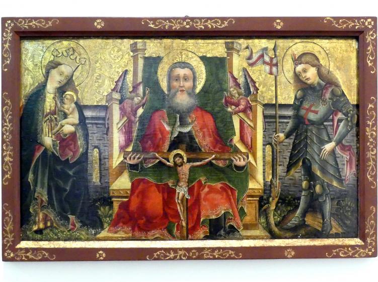 Not Gottes, Madonna mit Kind und hl. Georg, um 1450 - 1455