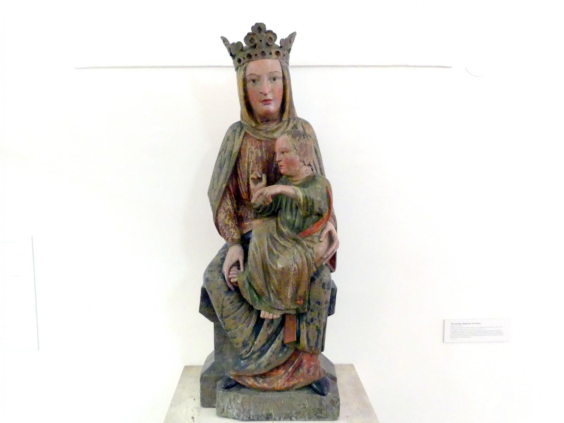 Thronende Madonna mit Kind, um 1240