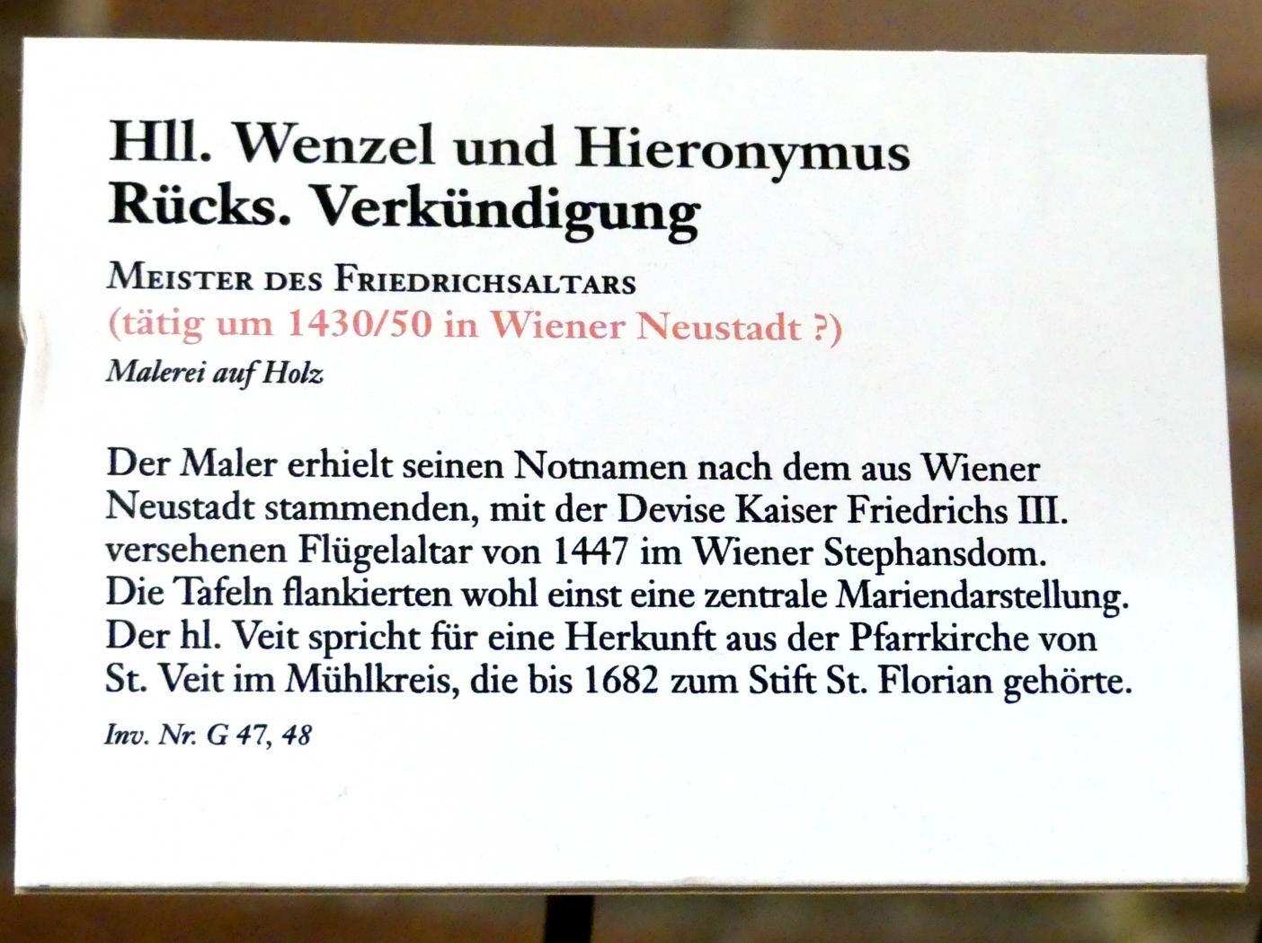 Meister des Friedrichsaltars: Hll. Wenzel und Hieronymus, um 1430 - 1450, Bild 3/3