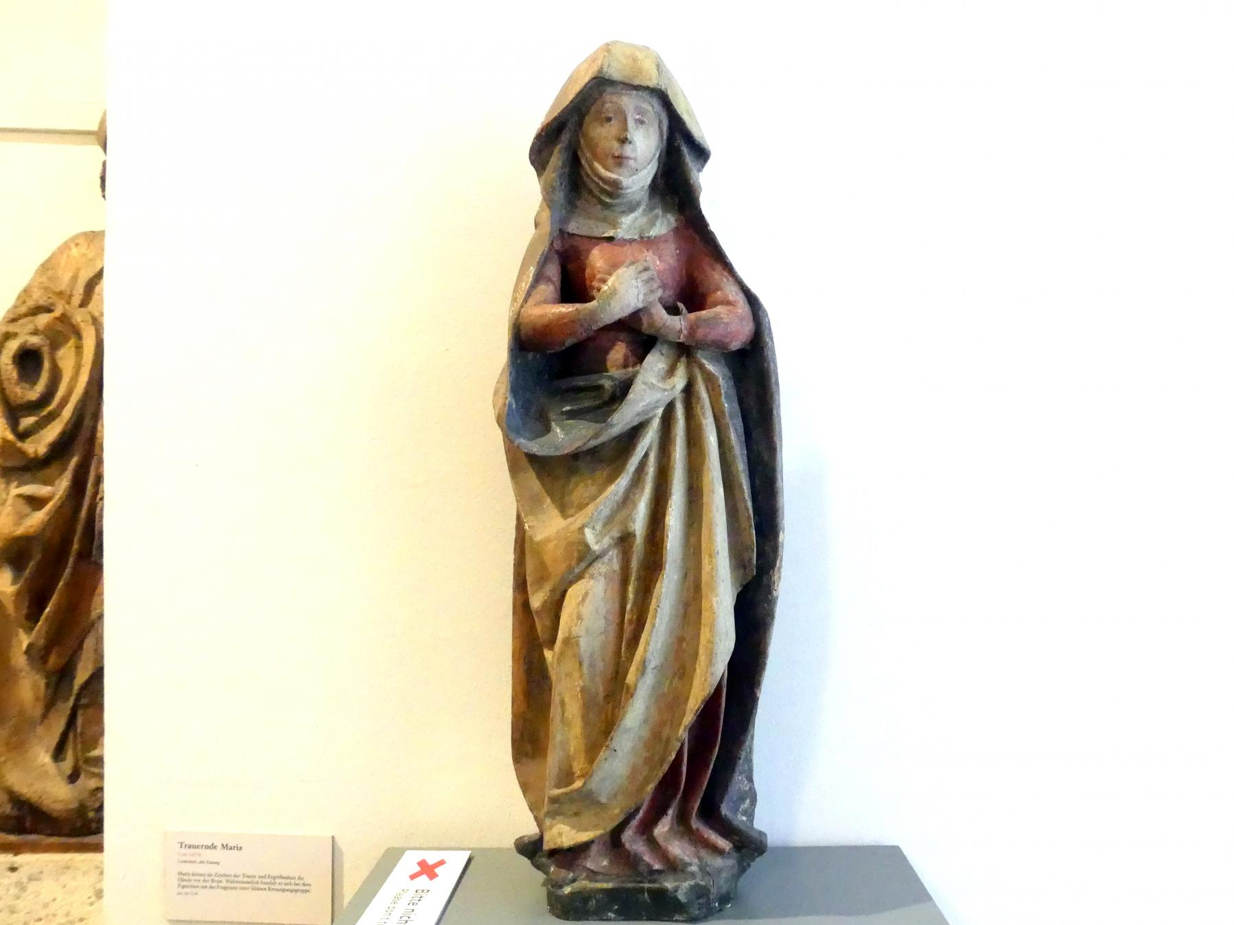 Trauernde Maria, Um 1470