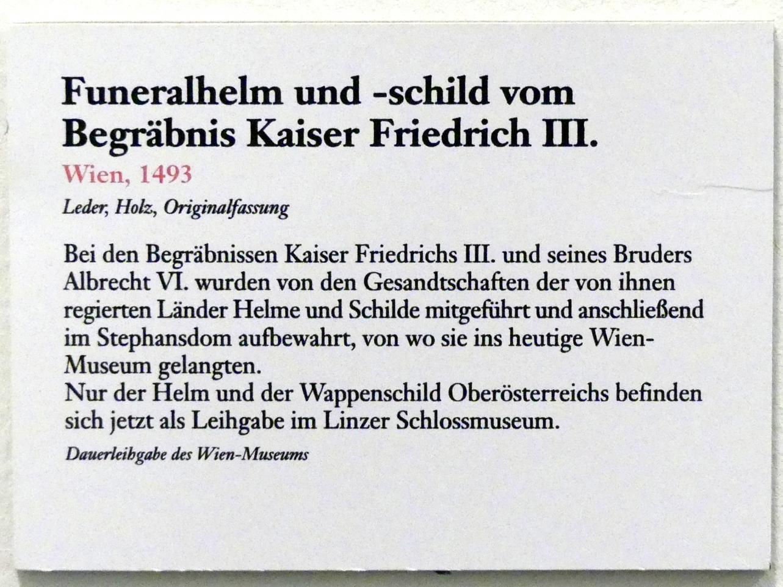 Funeralhelm und -schild vom Begräbnis Kaiser Friedrich III., 1493