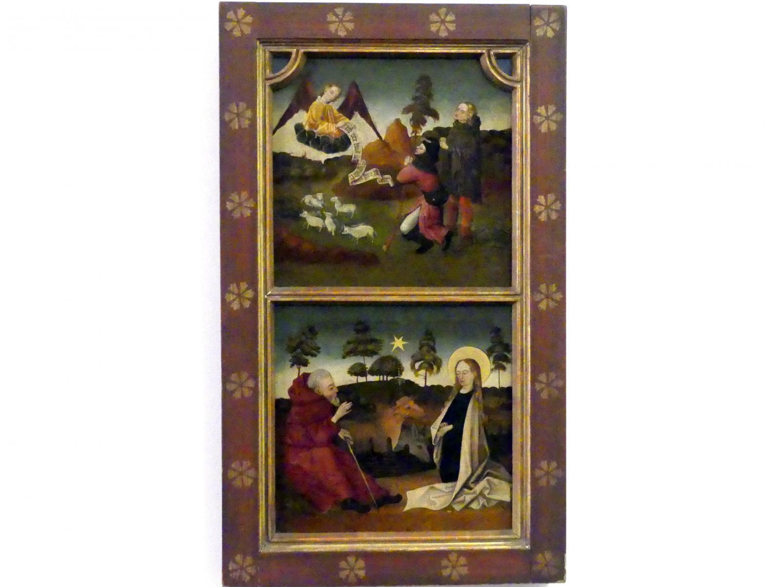 Erwartung der Geburt Christi, Verkündigung an die Hirten, 3. Viertel 15. Jhd.