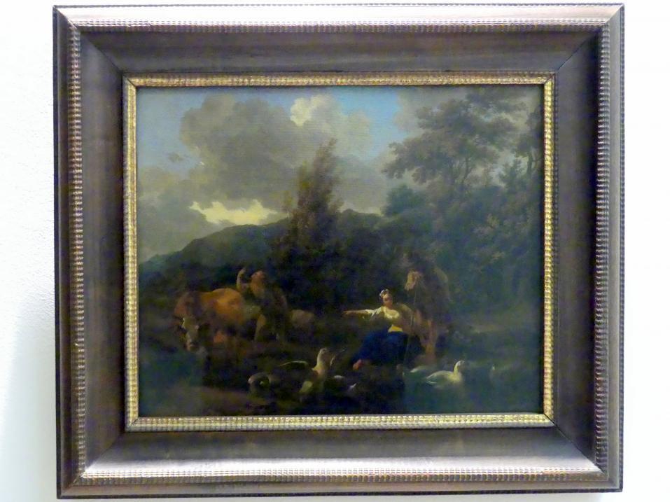 Nicolaes Berchem: Landschaft mit Gänseherde, Undatiert