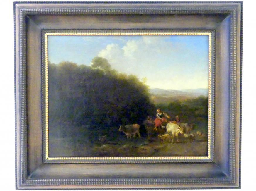 Nicolaes Berchem: Kuhherde an der Tränke, Undatiert