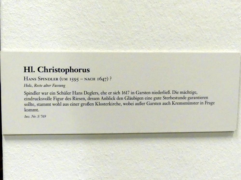Hans Spindler: Hl. Christophorus, Undatiert, Bild 3/3