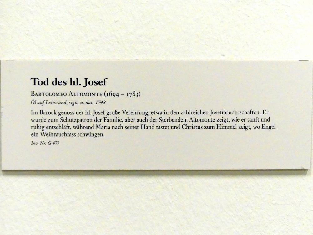 Bartolomeo Altomonte: Tod des hl. Josef, 1748, Bild 2/2