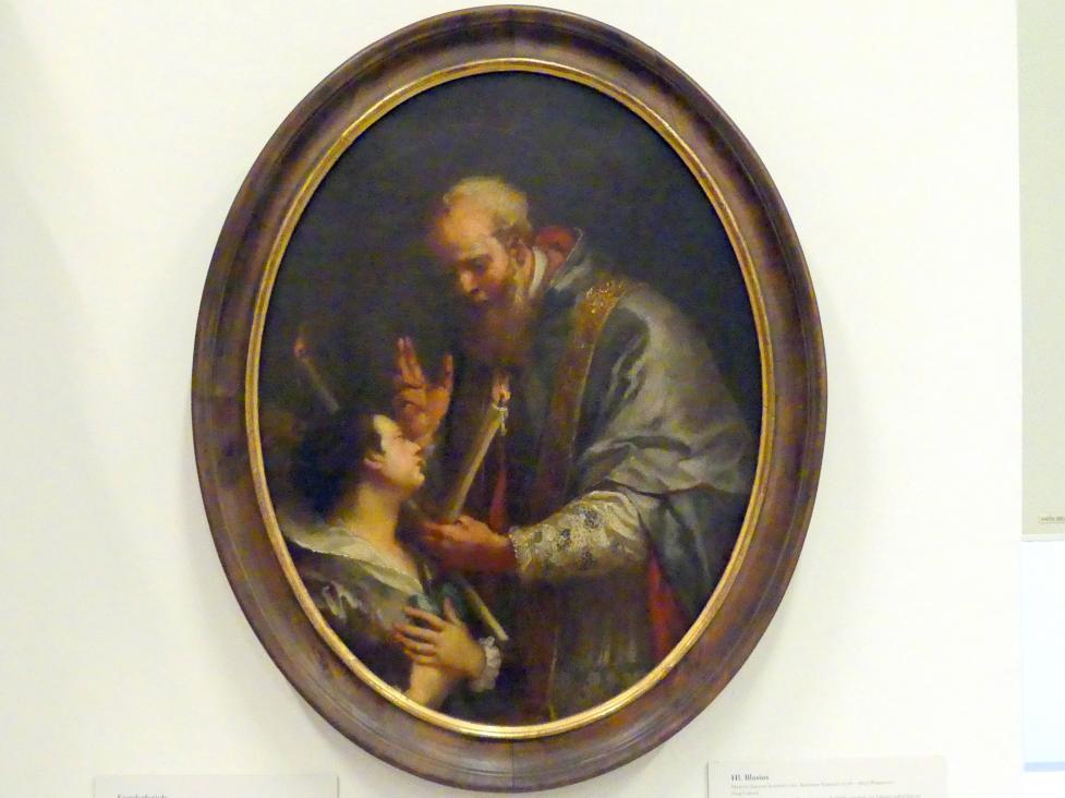 Martin Johann Schmidt (Kremser Schmidt) (Schüler): Hl. Blasius, 1768