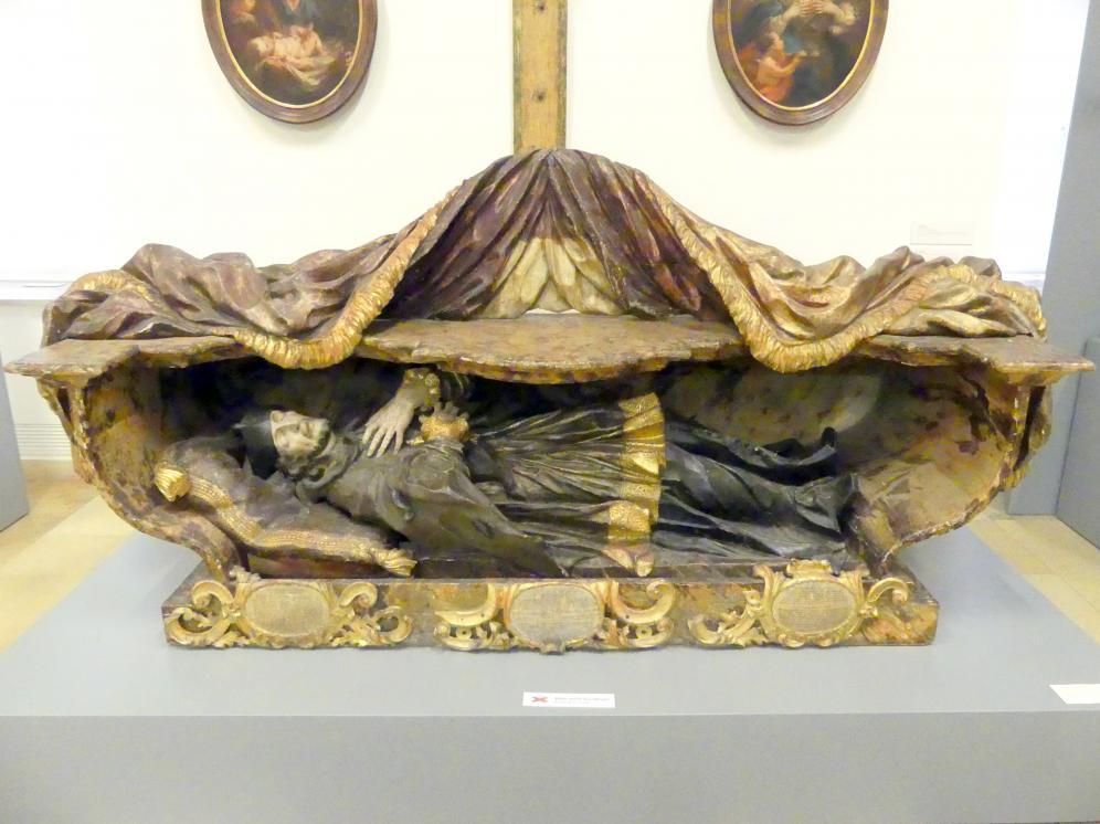Marian Rittinger: Hl. Johann Nepomuk im Grab, Undatiert