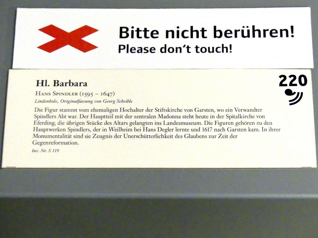 Hans Spindler: Hl. Barabara, nach 1617, Bild 3/3