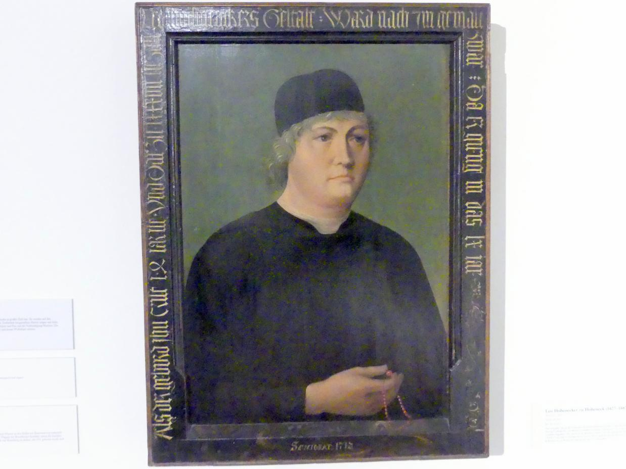 Leo Hohenecker zu Hoheneck (1427-1487), 1487