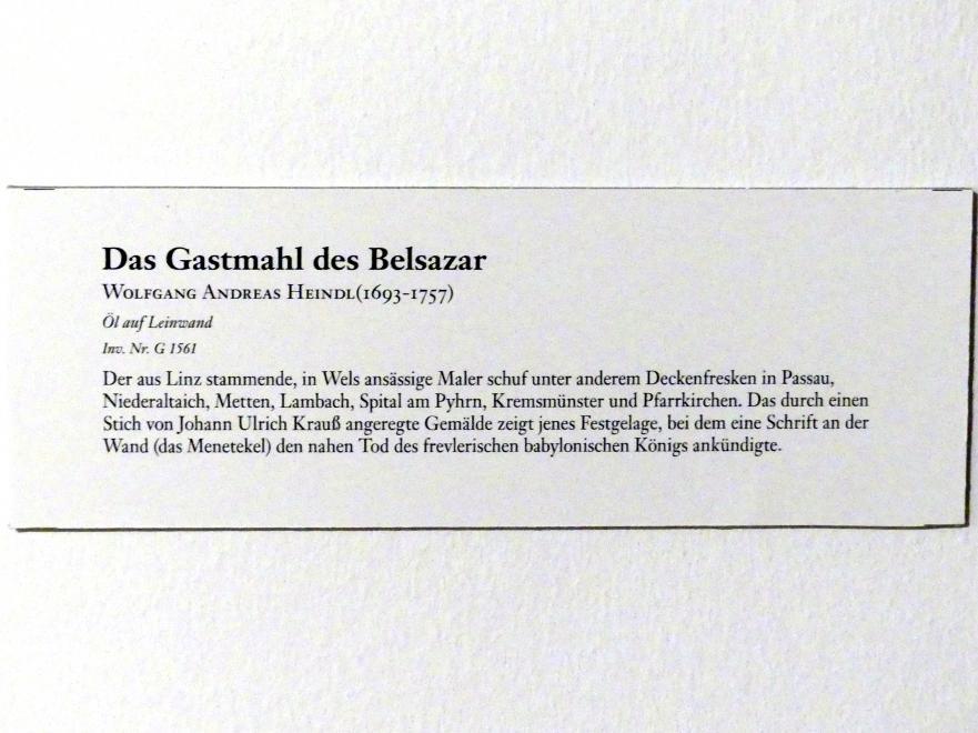 Wolfgang Andreas Heindl: Das Gastmahl des Belsazar, Undatiert, Bild 2/2