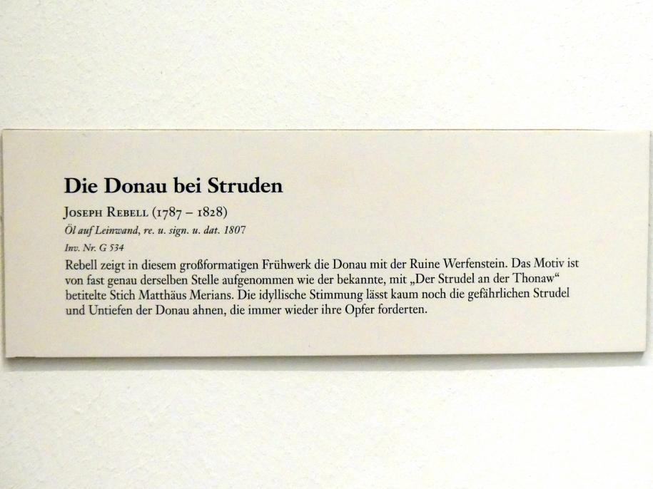 Josef Rebell: Die Donau bei Struden, Undatiert, Bild 2/2