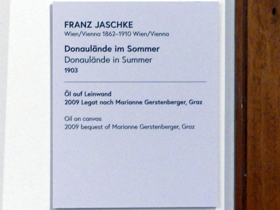 Franz Jaschke: Donaulände im Sommer, 1903, Bild 2/2