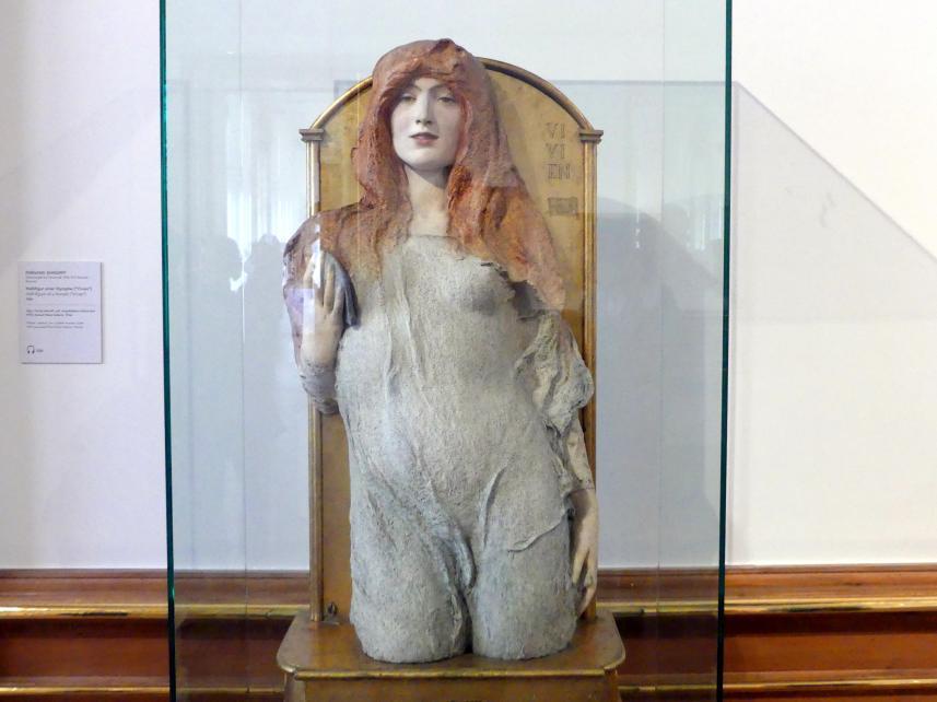 """Fernand Khnopff: Halbfigur einer Nymphe (""""Vivien""""), 1896"""