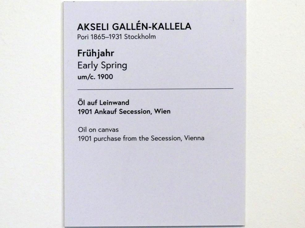 Akseli Gallen-Kallela: Frühjahr, um 1900, Bild 2/2