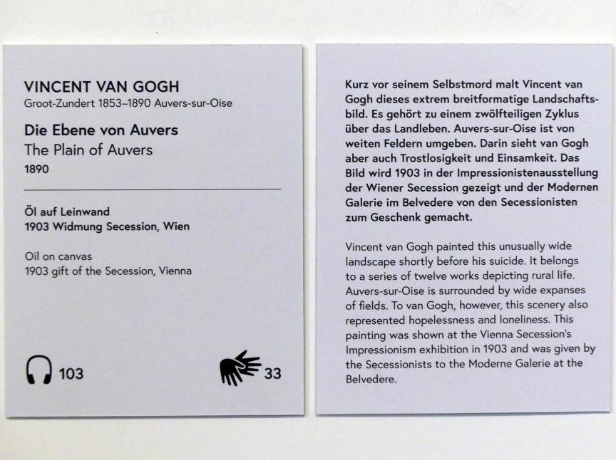 Vincent van Gogh: Die Ebene von Auvers, 1890, Bild 2/2