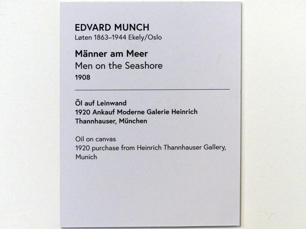 Edvard Munch: Männer am Meer, 1908, Bild 2/2