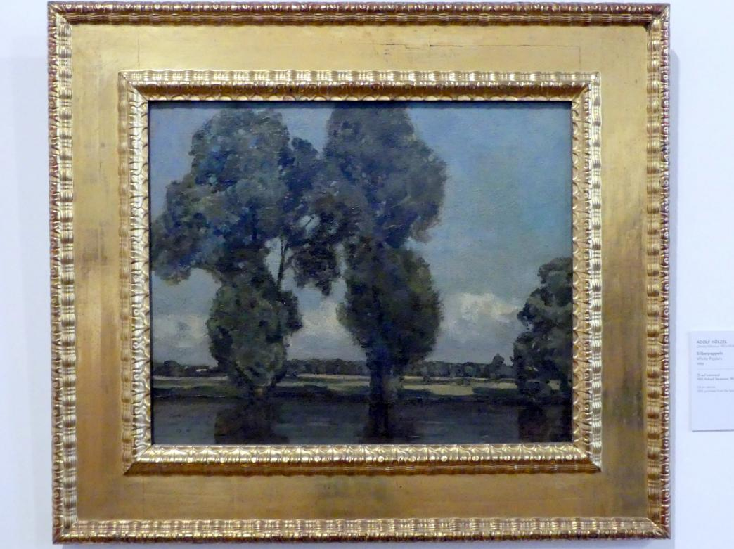 Adolf Hölzel: Silberpappeln, 1900, Bild 1/2
