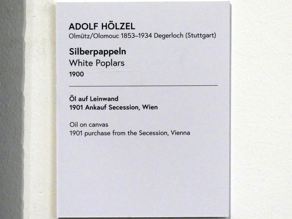 Adolf Hölzel: Silberpappeln, 1900