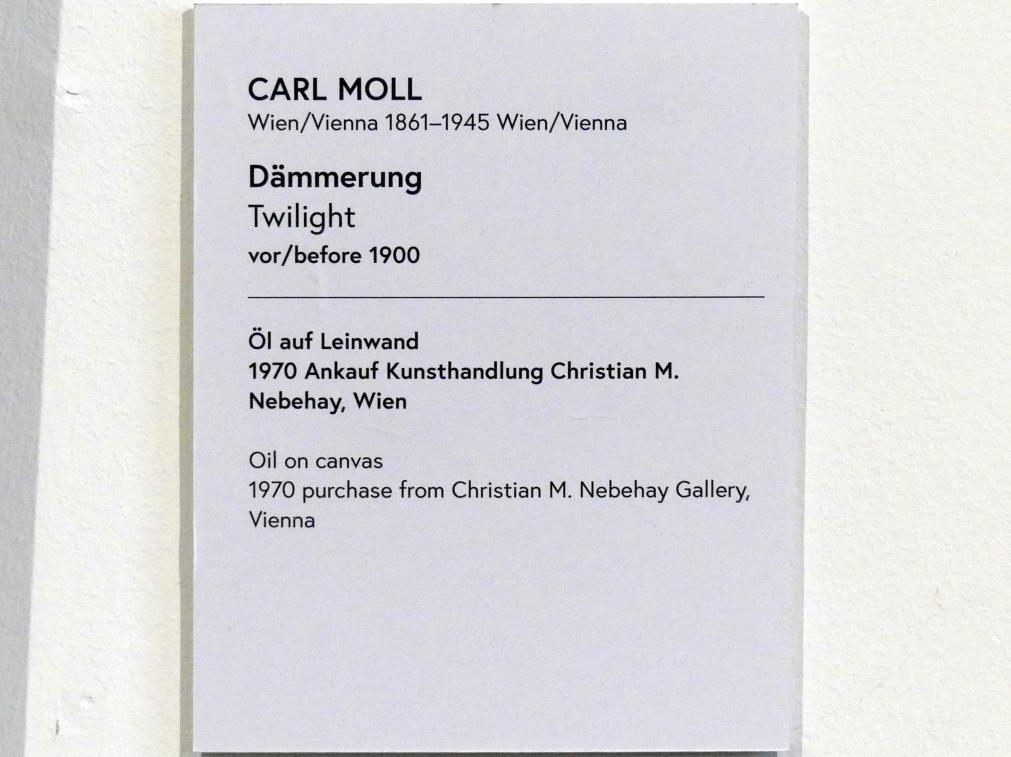 Carl Moll: Dämmerung, vor 1900, Bild 2/2