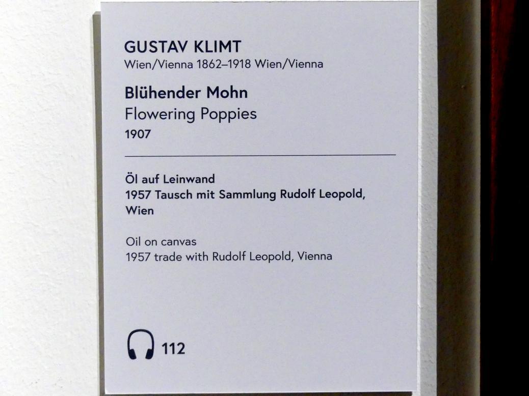 Gustav Klimt: Blühender Mohn, 1907, Bild 2/2