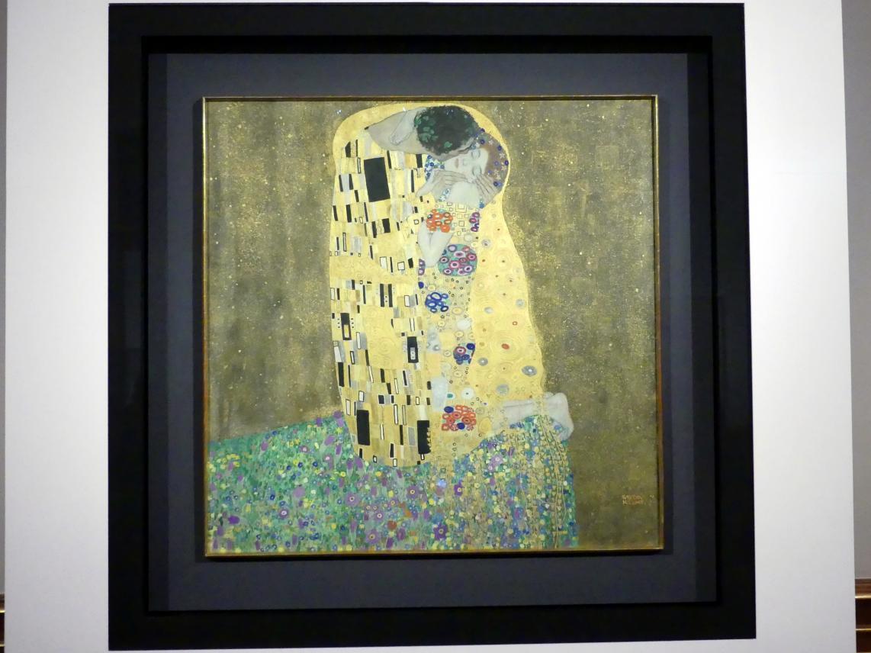 Gustav Klimt: Der Kuss (Liebespaar), 1908 - 1909
